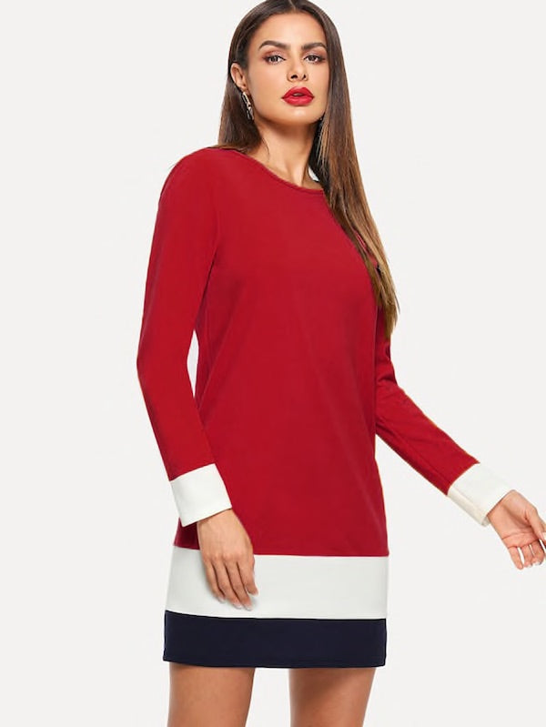 Marina Color Block Tunic - My Royal Closet