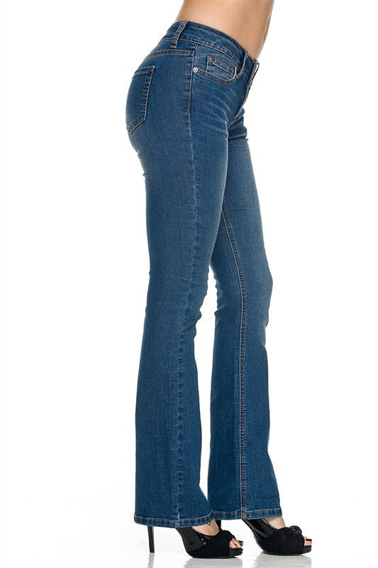 Light Blue Bootcut Jeans - My Royal Closet