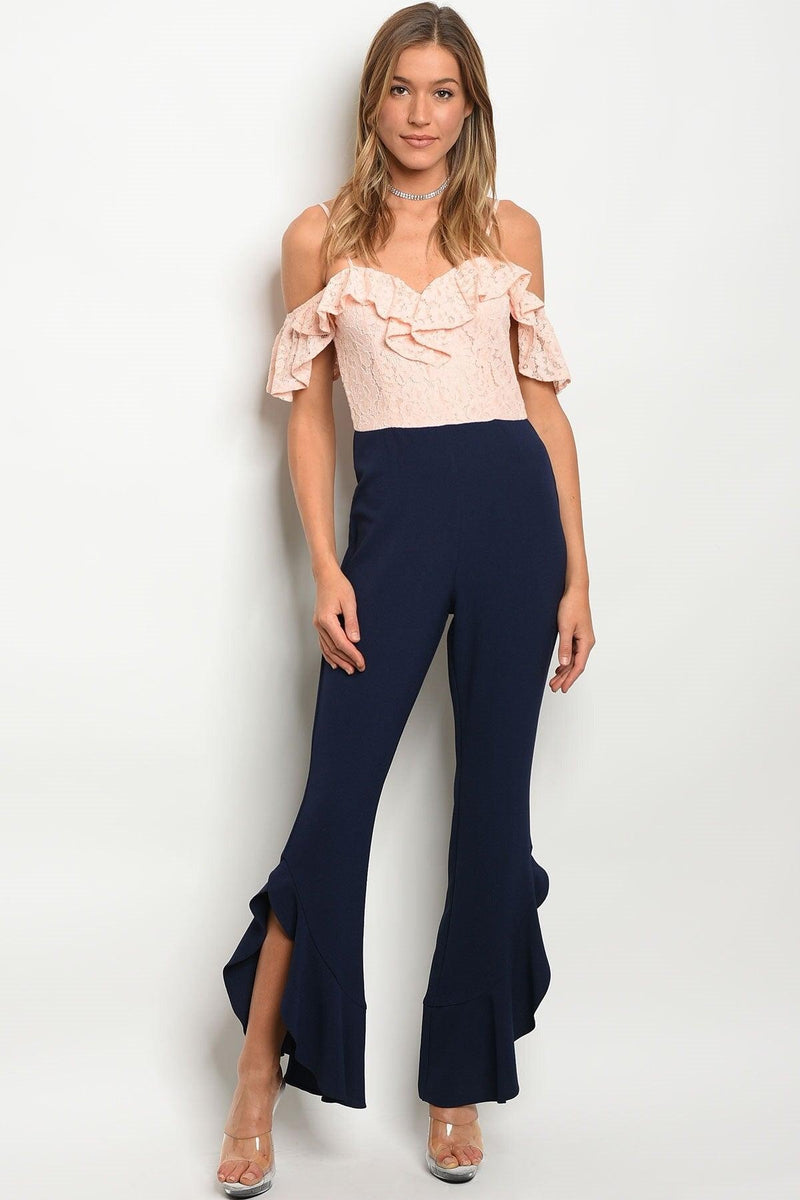 Off-Shoulder Ruffles Jumpsuit - My Royal Closet