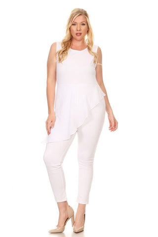 Royal Curves Lana Off-White Jumpsuit