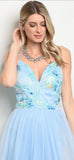 Ariah Sky Blue Maxi Gown - My Royal Closet