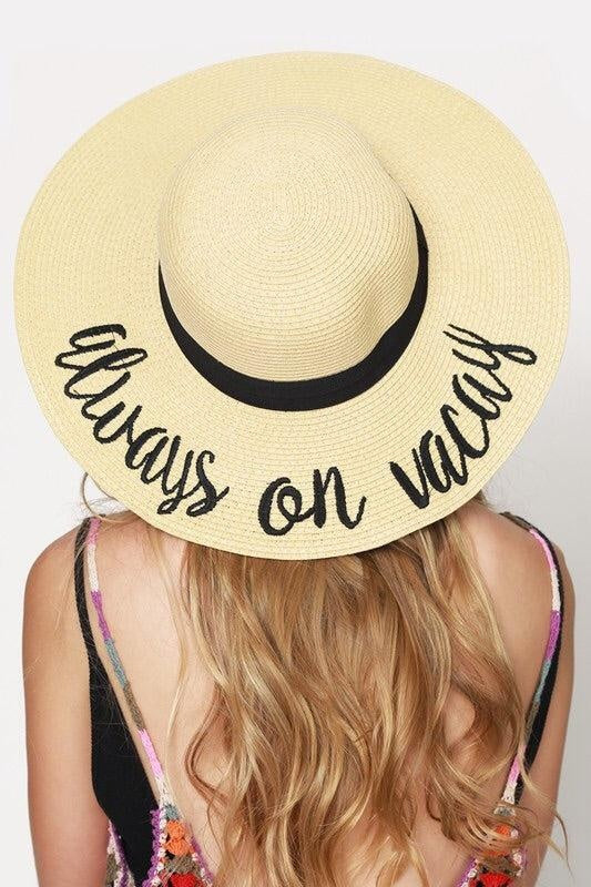 'Always On Vacay' Beach Hat - My Royal Closet