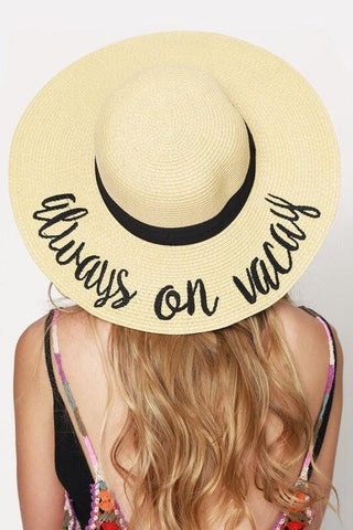 'Always On Vacay' Beach Hat