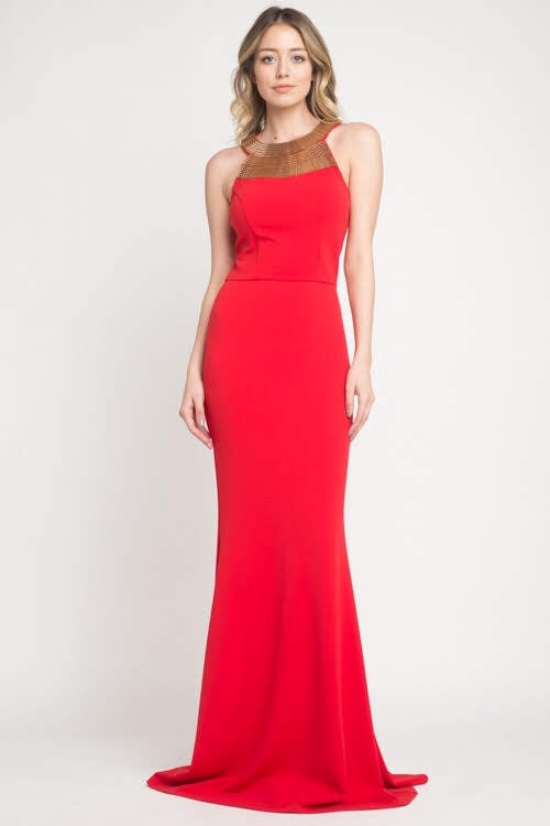 Miranda Scarlet Gown - My Royal Closet