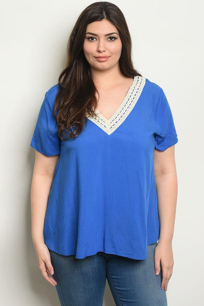 Royal Curves Tanya Blouse - My Royal Closet