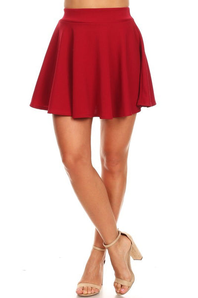 Candy Red Skater Mini Skirt - My Royal Closet