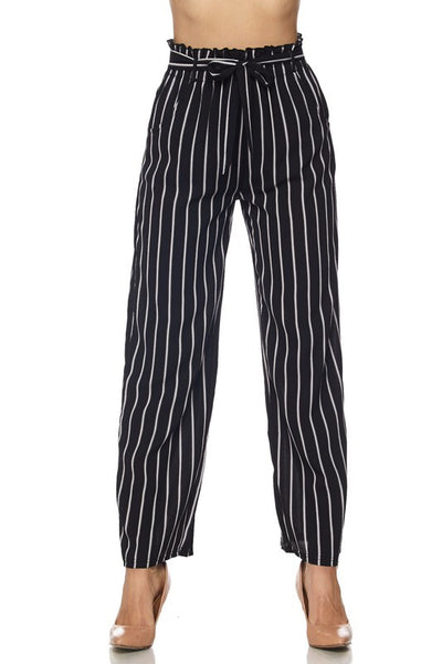 High Waisted Striped Pants - My Royal Closet