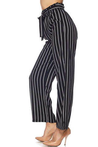 Royal Curves High Waisted Striped Pants
