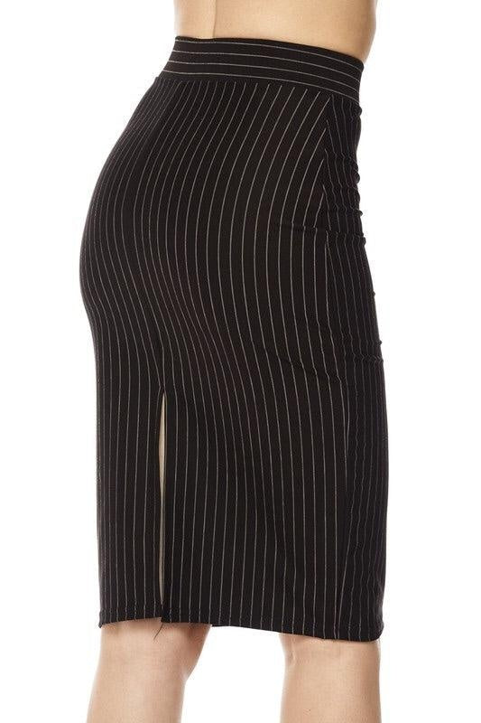Pinstriped Pencil Skirt - My Royal Closet