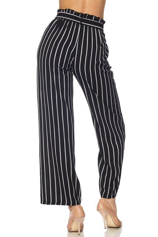 Royal Curves High Waisted Striped Pants - My Royal Closet