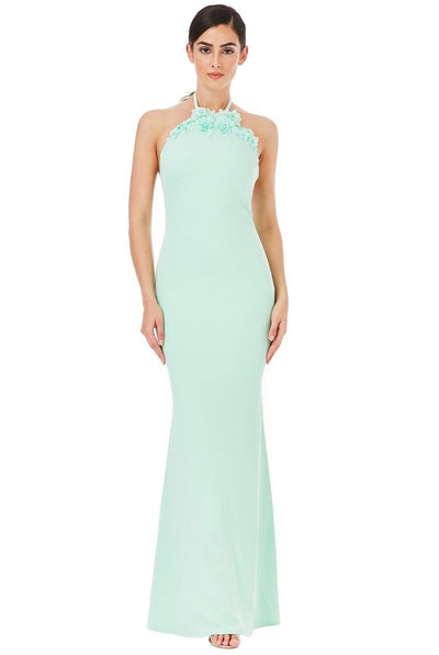 Leilani Mint Floral Maxi Gown - My Royal Closet