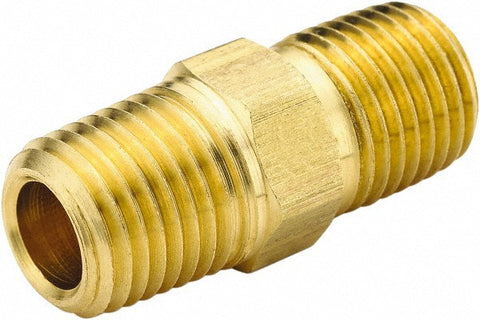 "3/8"" Brass Hex Nipple"