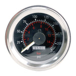 Viair 220psi Dual Needle Black Faced Gauge