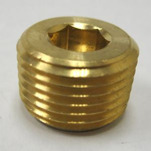 "1/2"" Brass Counter Sunk Plug"