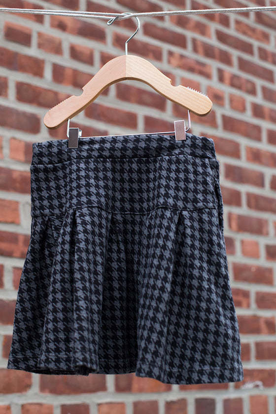 Hounds tooth Flare Skirt