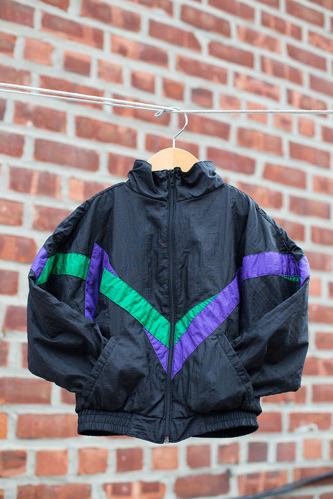 Old School Windbreaker Jacket