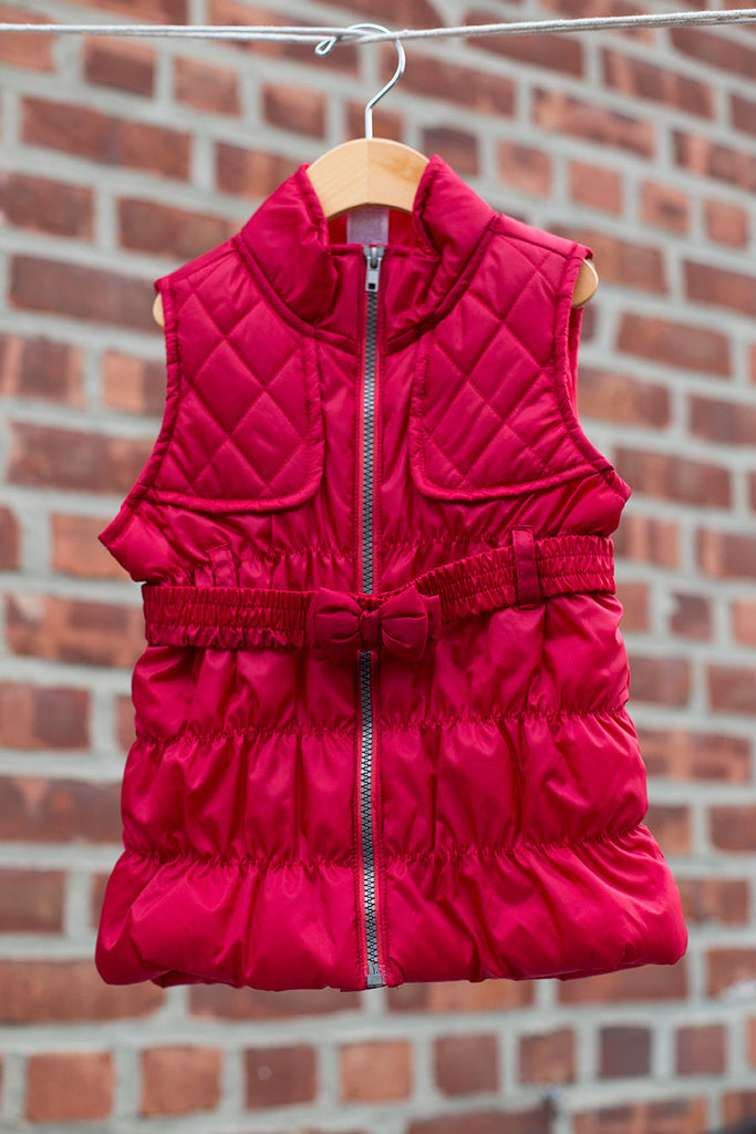 Puffer Vest with Belt