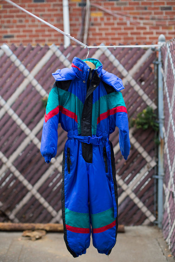 VINTAGE 80's Multi-Color Snowsuit