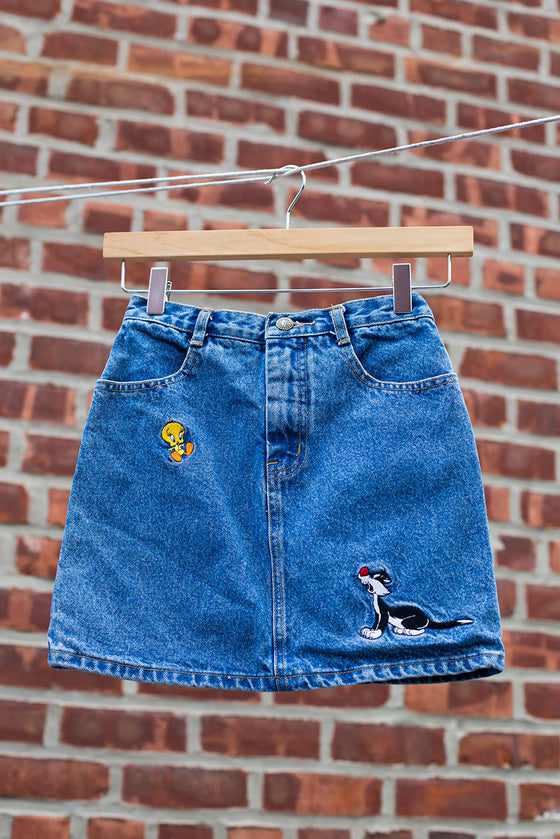 Vintage Looney Tunes Denim Skirt
