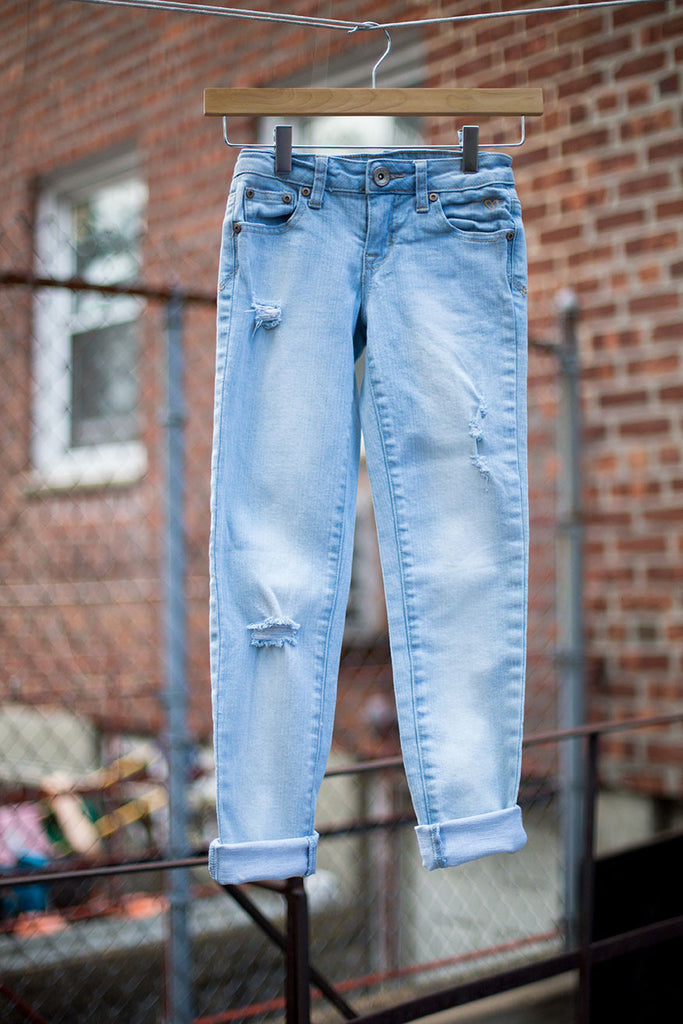 Slouchy Distressed Jeans