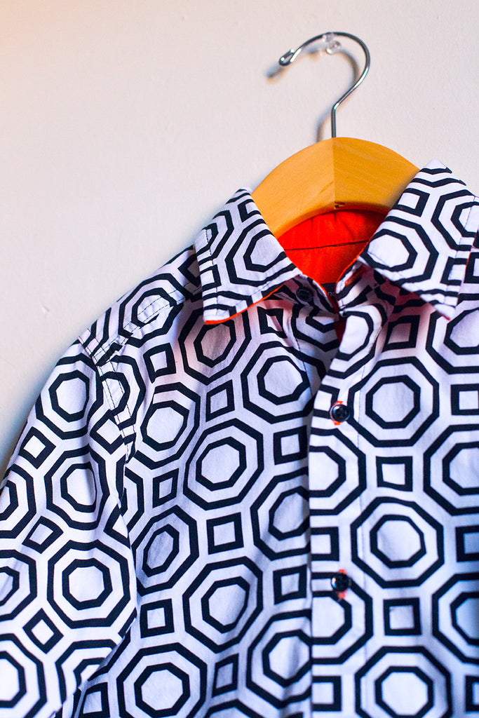 Geometric Button Down Shirt