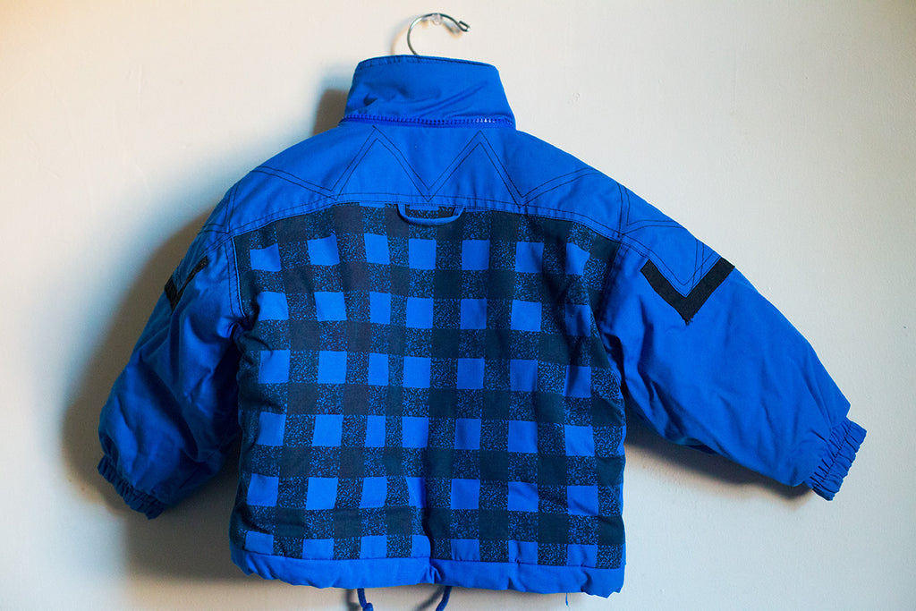 VINTAGE Outdoor Adventure Plaid Puffer Coat