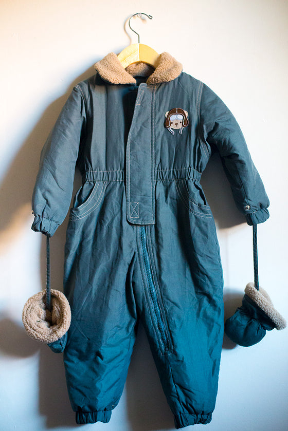 Aviator Teddy Bear Snowsuit
