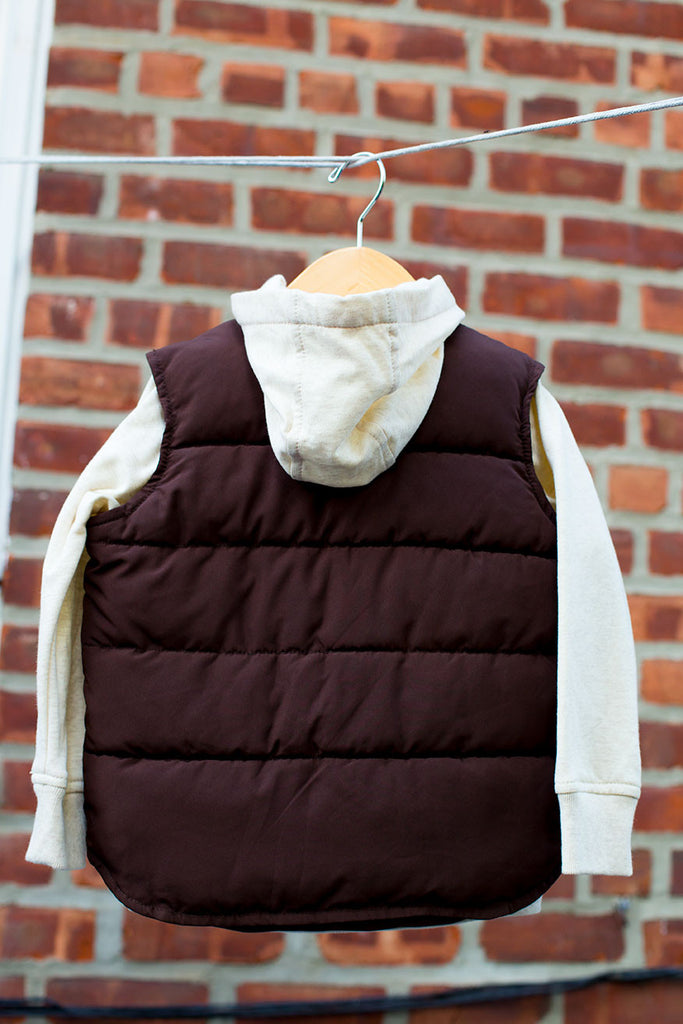 Casual Puffer Vest with Hoodie