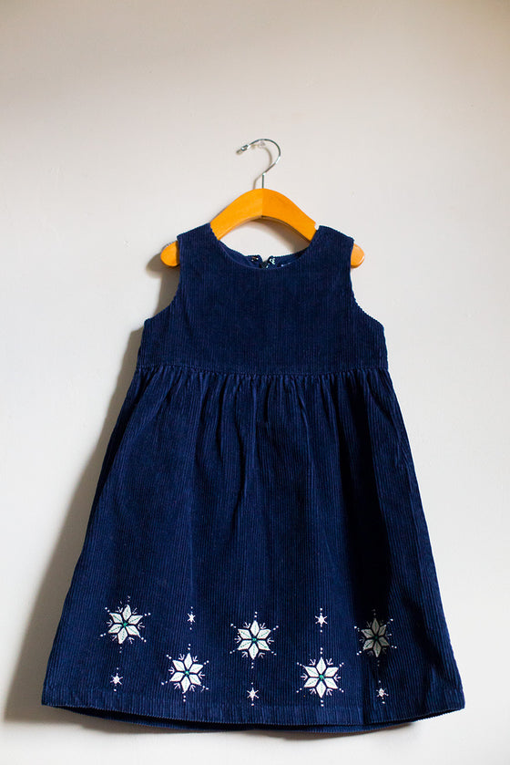Corduroy Snowflake Dress