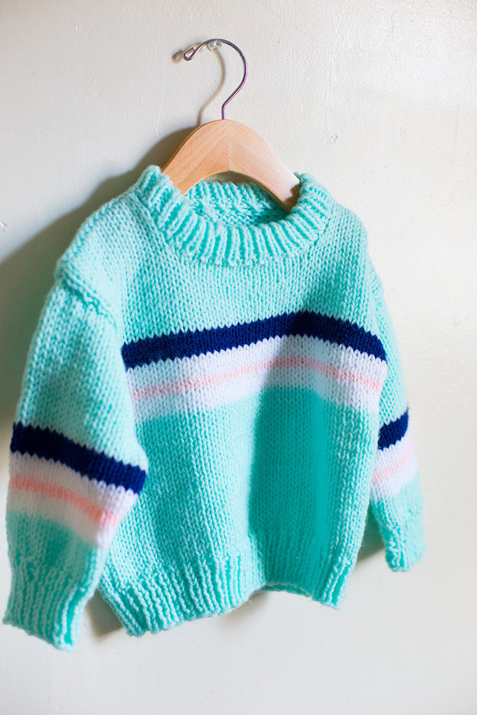 VINTAGE Hand Knit Striped Sweater