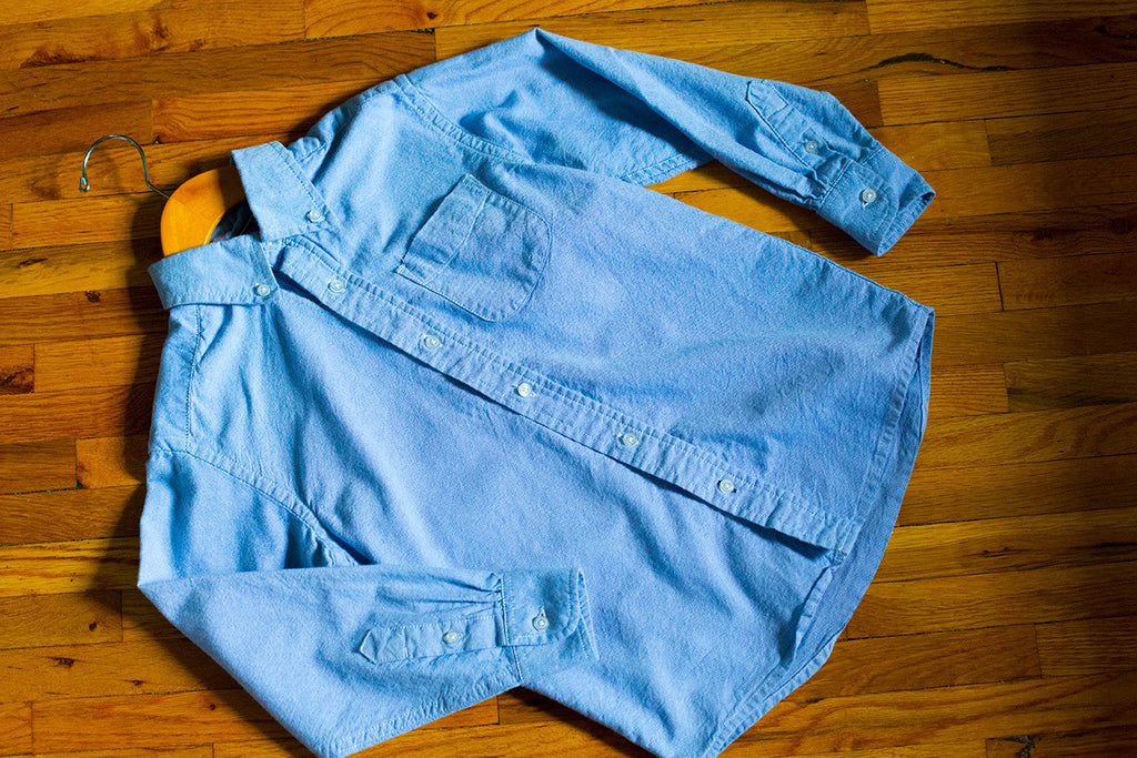 Long Sleeve Chambray Button Down Shirt