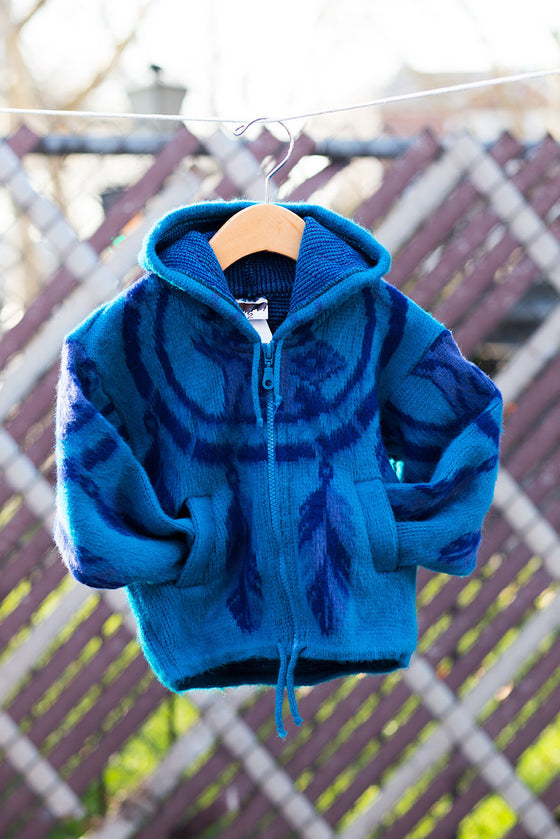 Feather Faux Fur Hoodie