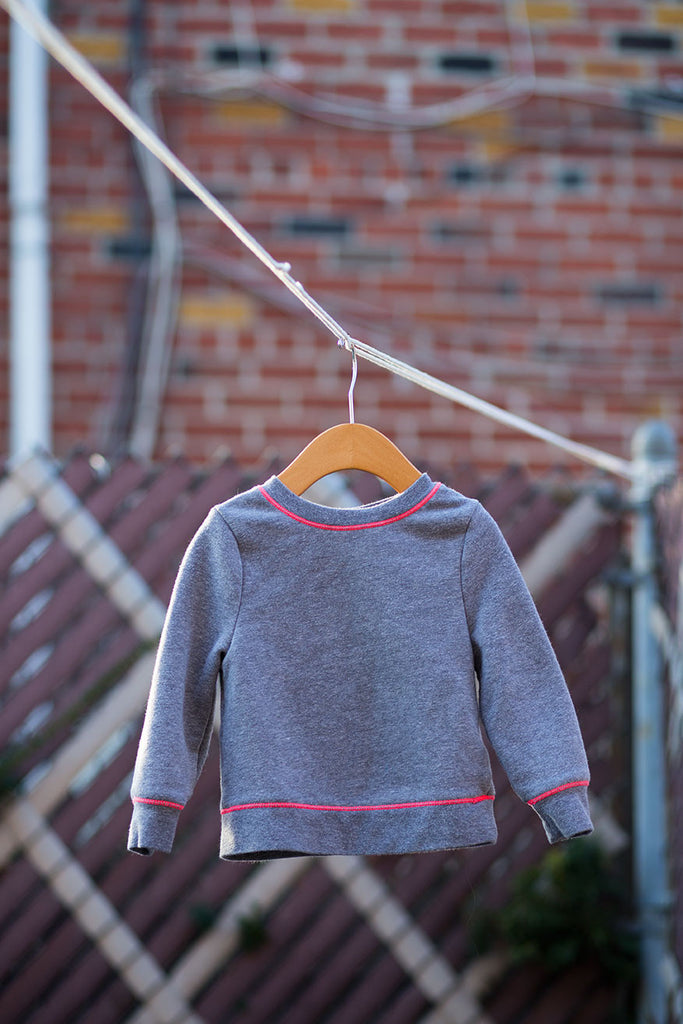 Pink and Gray Circo Crewneck Sweatshirt