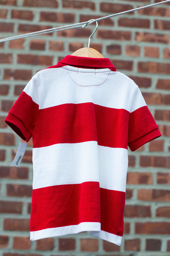 """BRAND NEW"" Striped Short Sleeve Polo Shirt"