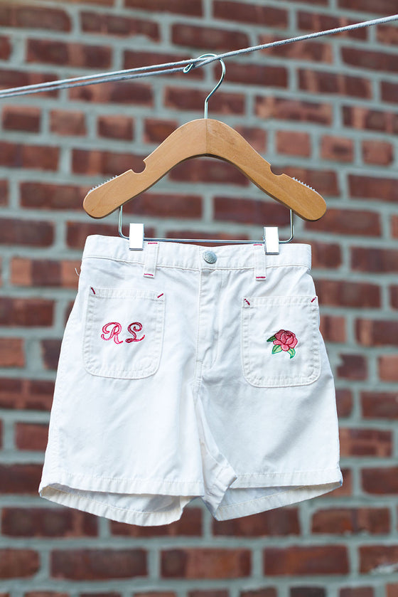 Khaki Rose Shorts