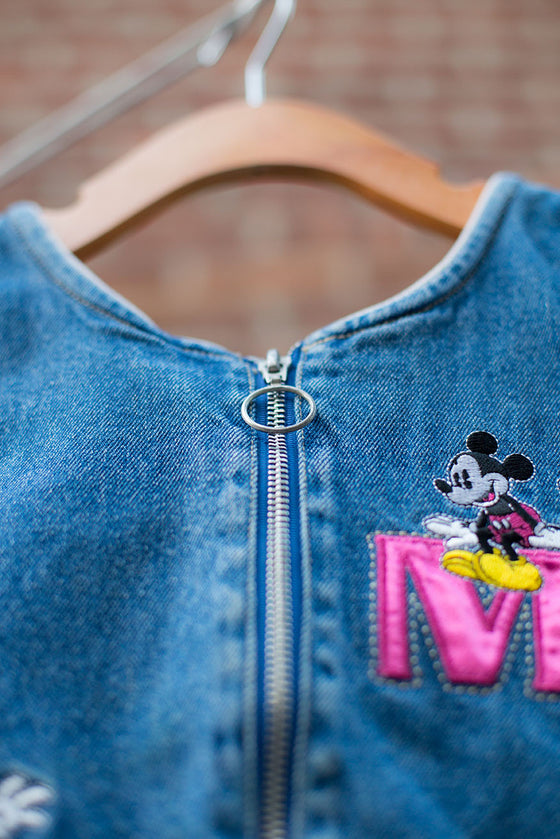 Vintage Mickey Mouse Denim Dress