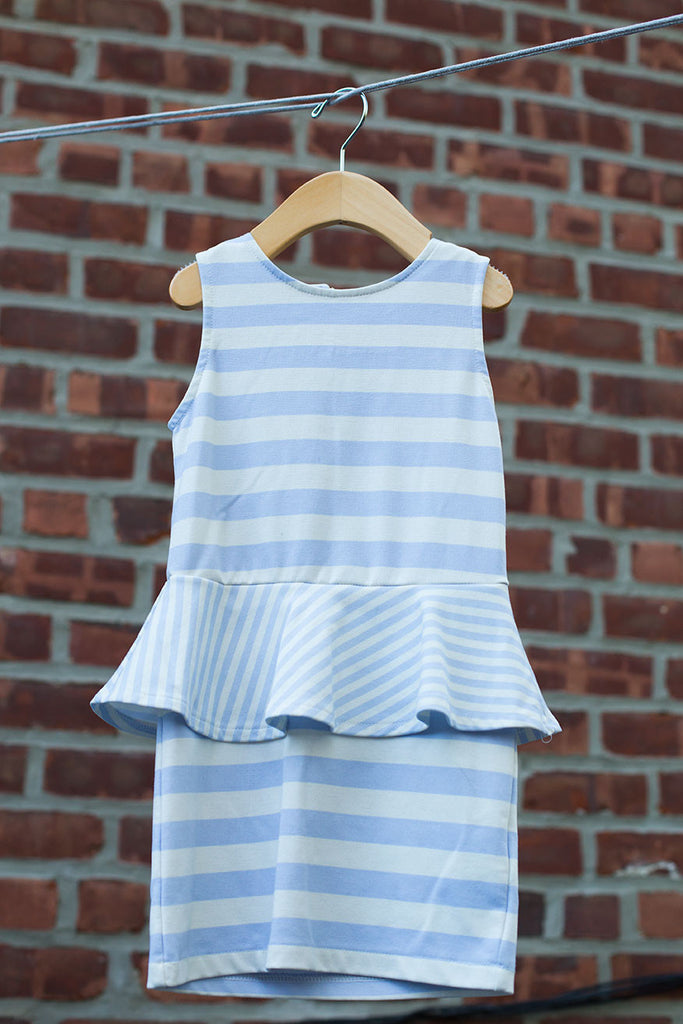 Peplum Striped Dress