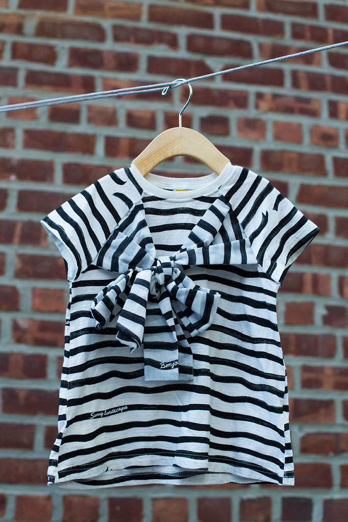 Black & White Striped T Shirt