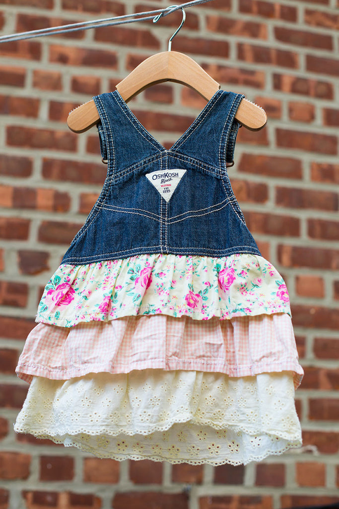 Ruffle Denim Jumper Dress
