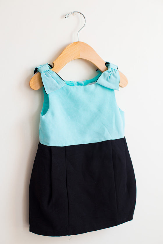 Color Block Bow Dress