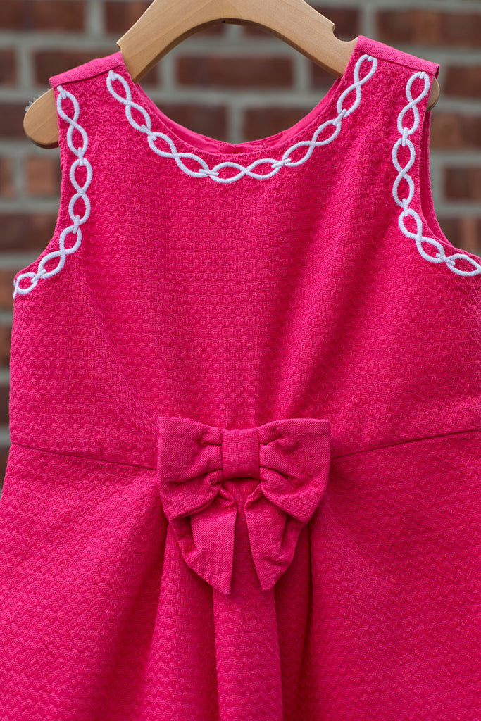 Pink Formal Dress with Bow
