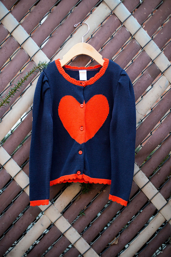 """BRAND NEW"" Heart Cardigan"