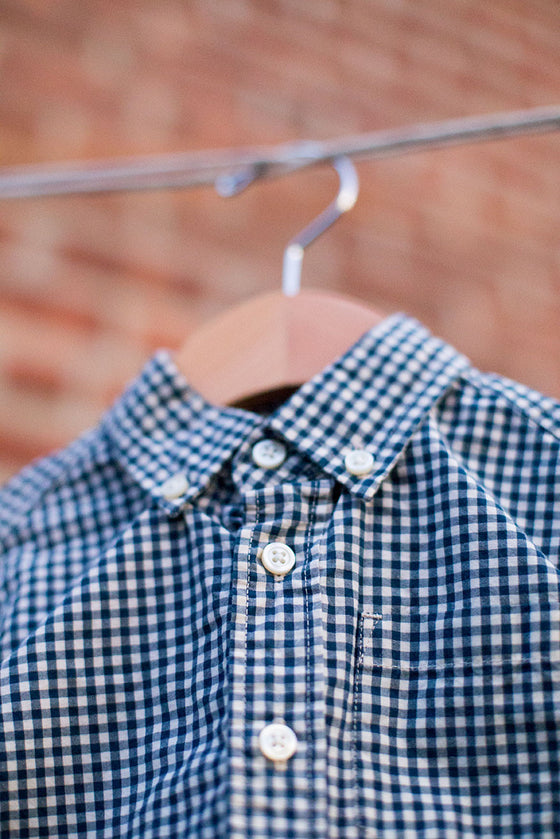 Checkered Cotton Button Down Shirt