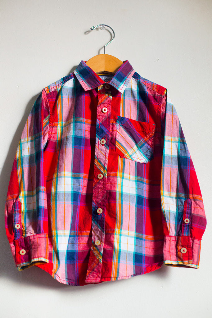 Long Sleeve Plaid Button Down