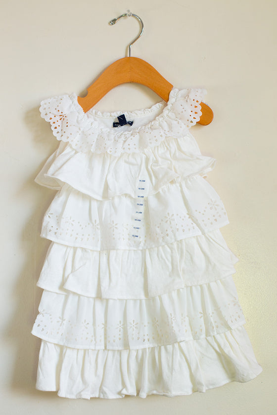 """BRAND NEW"" Eyelet Ruffle Dress"