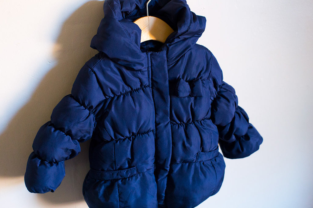 Quilted Puffer Coat w/Hood