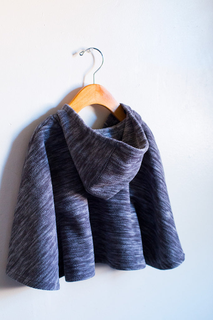Marble Fleece Cape Sweater