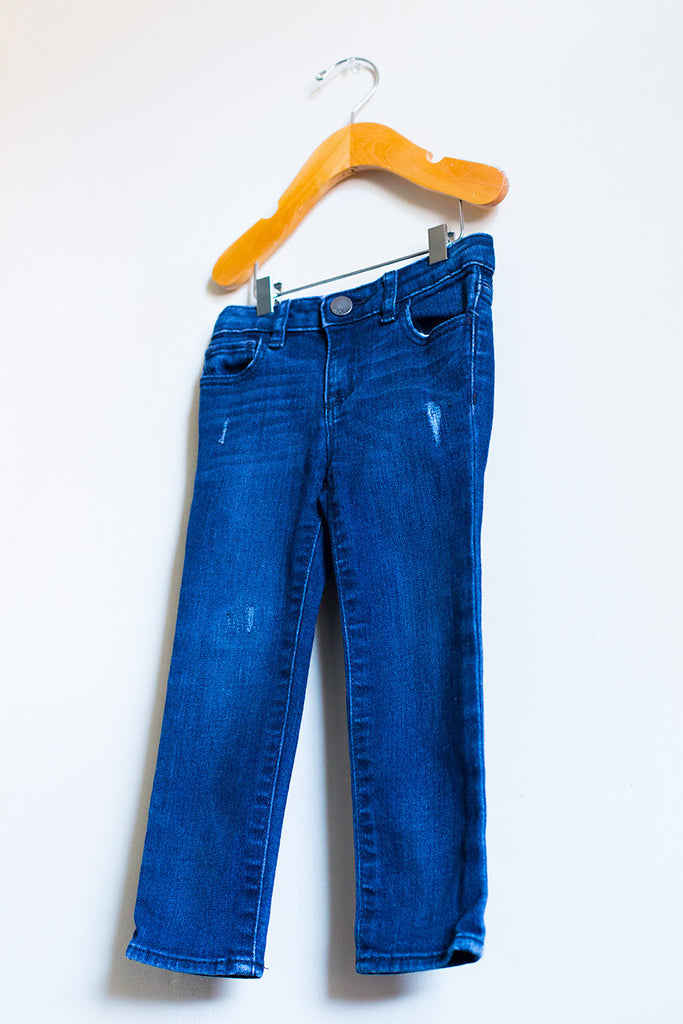 Mini Skinny Semi Distressed Jeans