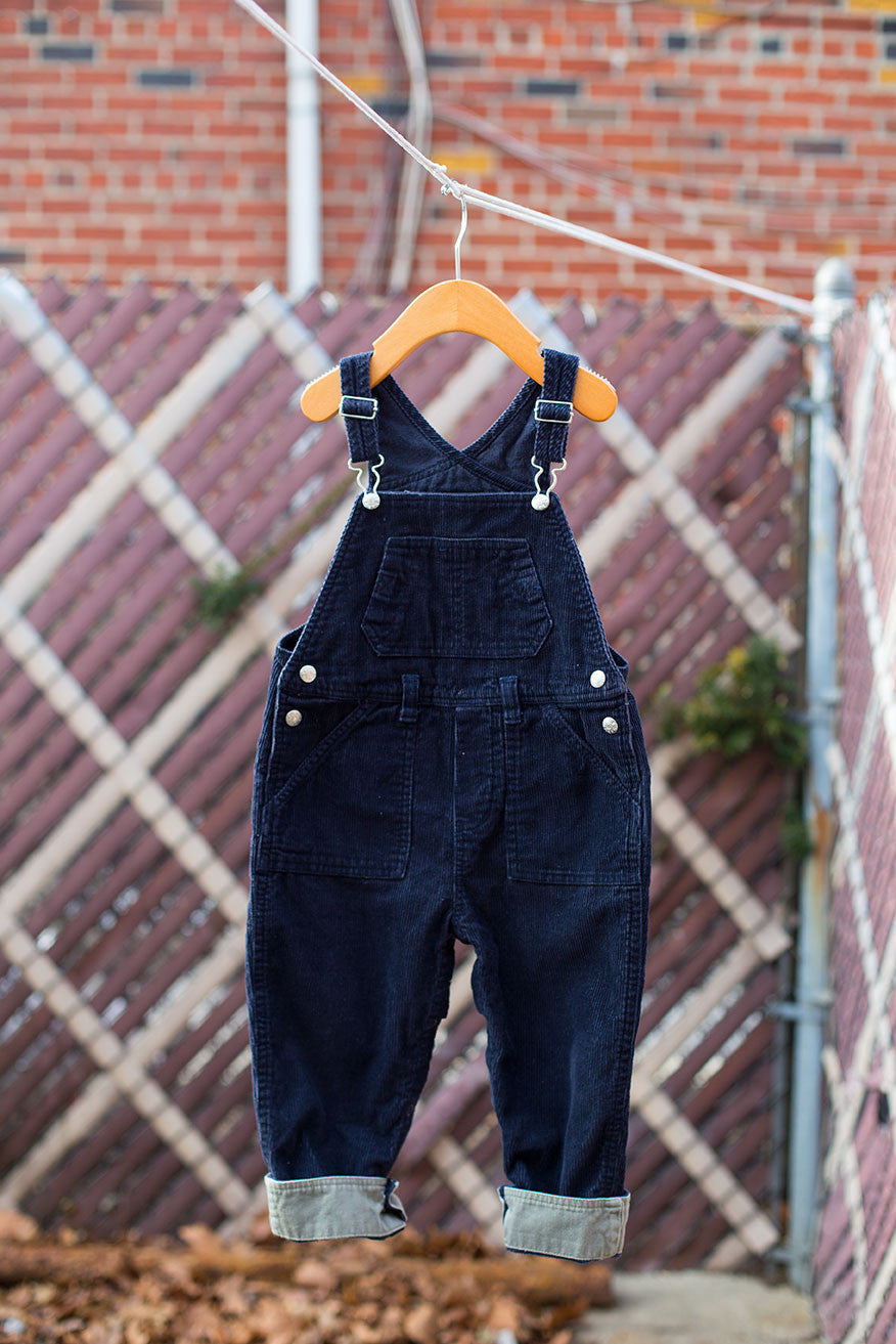 638ecf1381a Vintage Navy Blue Children s Place Corduroy Overalls - Everything Jiggy