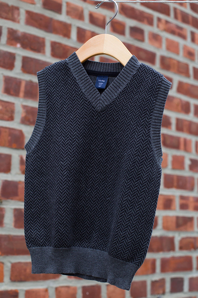 """BRAND NEW"" Herringbone Sweater Vest"